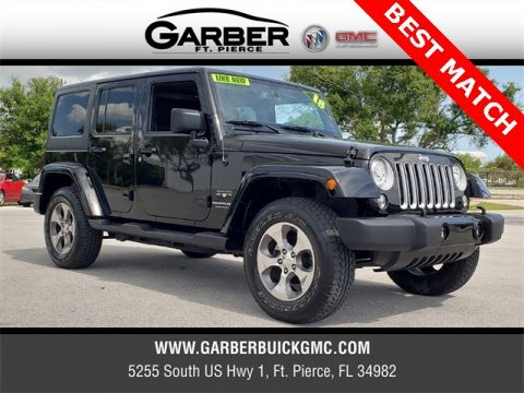 Pre-Owned 2018 Jeep Wrangler JK Unlimited Sahara 4WD