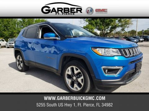 Pre-Owned 2019 Jeep Compass Limited With Navigation & 4WD